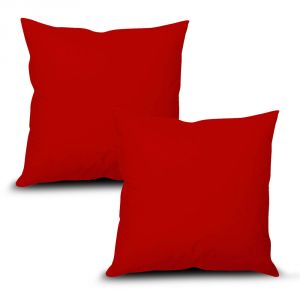 Stybuzz Red Solid Cushion Cover - Set Of 2 - (product Code - Sdrs00002)