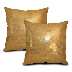 Sephora Golden Sequin Cushion Cover - Set Of 2