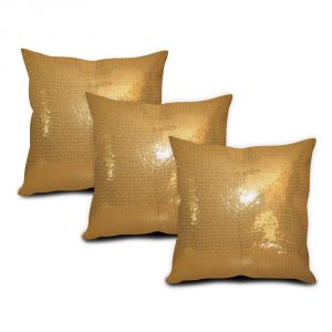Sephora Golden Sequin Cushion Cover - Set Of 3