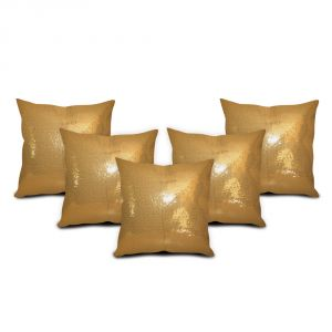 Sephora Golden Sequin Cushion Cover - Set Of 5