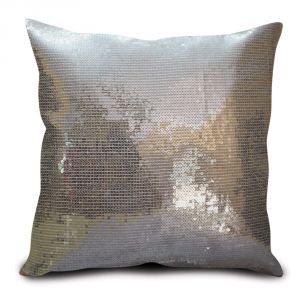 Sephora Silver Sequin Cushion Cover