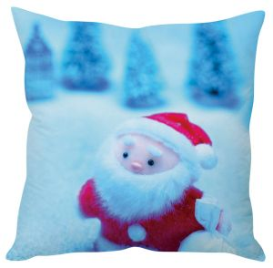Stybuzz Cute Red Santa Toy Christmas Cushion Cover