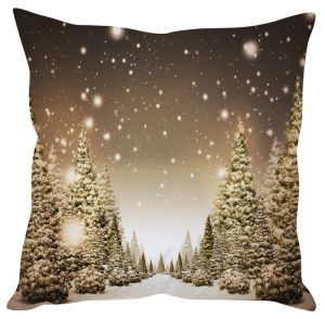 Stybuzz Snowfall On Trees Christmas Cushion Cover