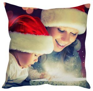 Stybuzz Mother And Baby Christmas Gift Cushion Cover