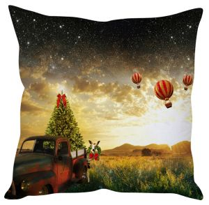 Stybuzz Christmas Air Balloons Cushion Cover