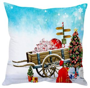 Stybuzz Christmas Gift Wagon Cushion Cover