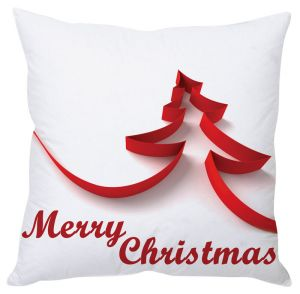 Stybuzz Merry Christmas Tree Paper Art Cushion Cover