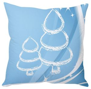 Stybuzz Ice Blue Christmas Tree Cushion Cover
