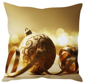 Stybuzz Glittering Christmas Ball Cushion Cover