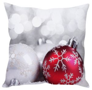Stybuzz Snow Flake Christmas Ball Cushion Cover