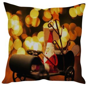 Stybuzz Santa In Wagon Cushion Cover