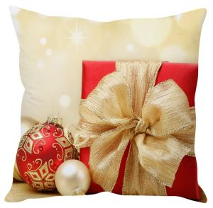 Stybuzz Beautiful Red Christmas Gift Cushion Cover