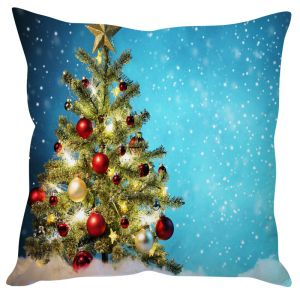 Stybuzz Decorated Christmas Tree Cushion Cover