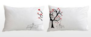 Stybuzz Love Is In The Air Couple Pillow Covers
