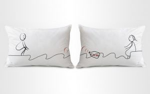 Stybuzz Message Of Love Couple Pillow Covers