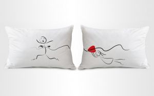 Stybuzz Funny Couple Pillow Covers