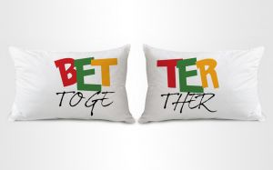 Stybuzz Better Together Couple Pillow Covers