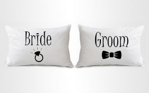 Stybuzz Groom And Bride Couple Pillow Covers