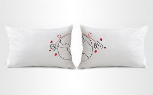 Stybuzz Around The World Couple Pillow Covers