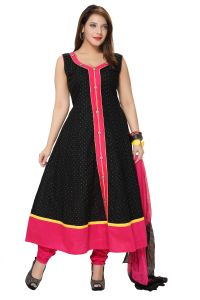 Divinee Black Art Silk Readymade Anarkali Suit - (product Code - F_148)
