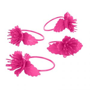 Fabulloso Pink Colour Blooming Napkin Ring Set