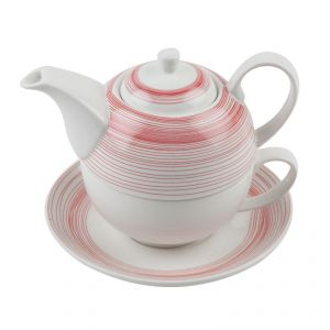 Fabulloso Red Stripe Detachable Tea & Coffee Set