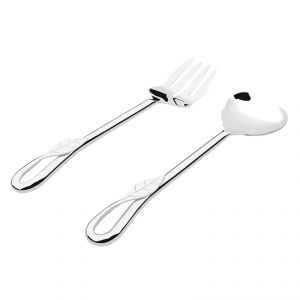Fabulloso Willow Salad Stainless Steel Set