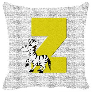 Fabulloso Leaf Designs Alphabet Cushion Cover Z - 16x16 Inches