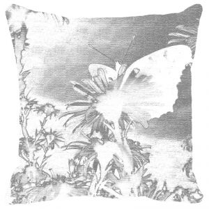 Leaf Designs Black & White Floral Cushion Cover - Code 53863122091
