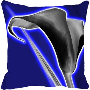 Leaf Designs Black & Blue Floral Cushion Cover - Code 53863412091