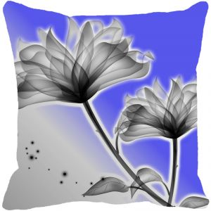Leaf Designs Blue Grey Floral Cushion Cover - Code 53863502091