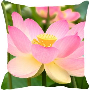 Leaf Designs Pink Floral Cushion Cover - Code 53863482091