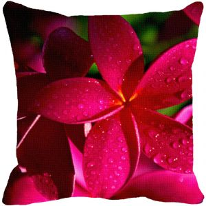 Leaf Designs Red Floral Cushion Cover - Code 53863542091