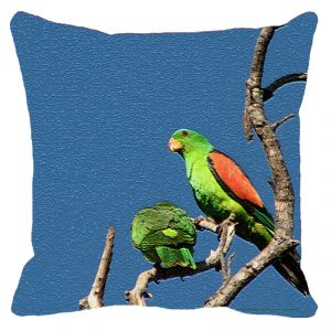 Leaf Designs Parrot On A Branch Cushion Cover - Code 53864142091