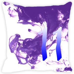 Fabulloso Leaf Designs Numeric Eleven Cushion Cover - 18x18 Inches