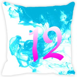 Fabulloso Leaf Designs Numeric Twelve Cushion Cover - 18x18 Inches