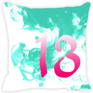 Fabulloso Leaf Designs Numeric Thirteen Cushion Cover - 16x16 Inches