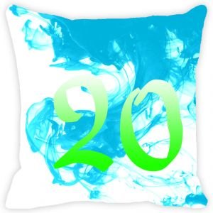 Fabulloso Leaf Designs Numeric Twenty Cushion Cover - 8x8 Inches