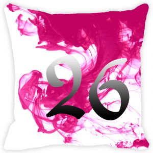 Fabulloso Leaf Designs Numeric Twenty Six Cushion Cover - 8x8 Inches