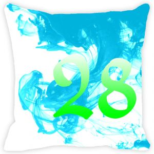 Fabulloso Leaf Designs Numeric Twenty Eight Cushion Cover - 18x18 Inches