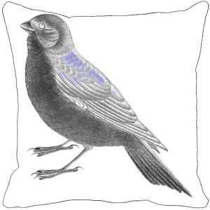 Leaf Designs Black And White Bird Cushion Cover II - Code 53863632091