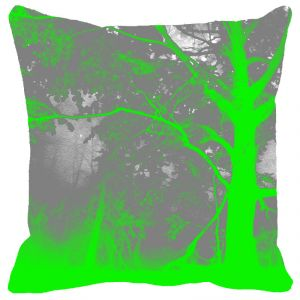Leaf Designs Grey Green Tree Cushion Cover - Code 53864612091