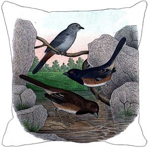 Leaf Designs Bird Sand Stones Cushion Cover - Code 53863552091
