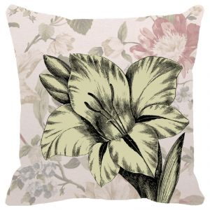 Fabulloso Leaf Designs Chintz Floral Cushion Cover - 16x16 Inches