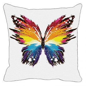 Leaf Designs Multi Coloured Butterfly Cushion Cover - Code 53864212091