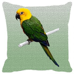 Leaf Designs Shaded Parrot Cushion Cover - Code 53864812091