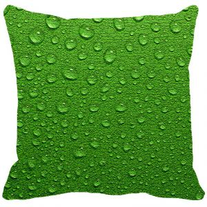 Leaf Designs Green Water Drops Cushion Cover - Code 53863292091