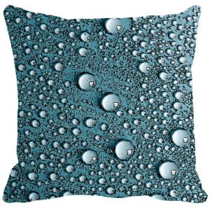 Leaf Designs Blue Water Drops Cushion Cover - Code 53863272091