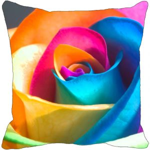 Leaf Designs Multi Colored Rose Cushion Cover - Code 53863392091