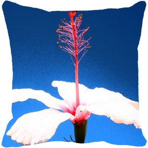 Leaf Designs White Hibiscus Cushion Cover - Code 53863452091